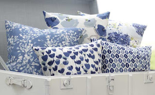 Romo Tulipa fabric blue floral