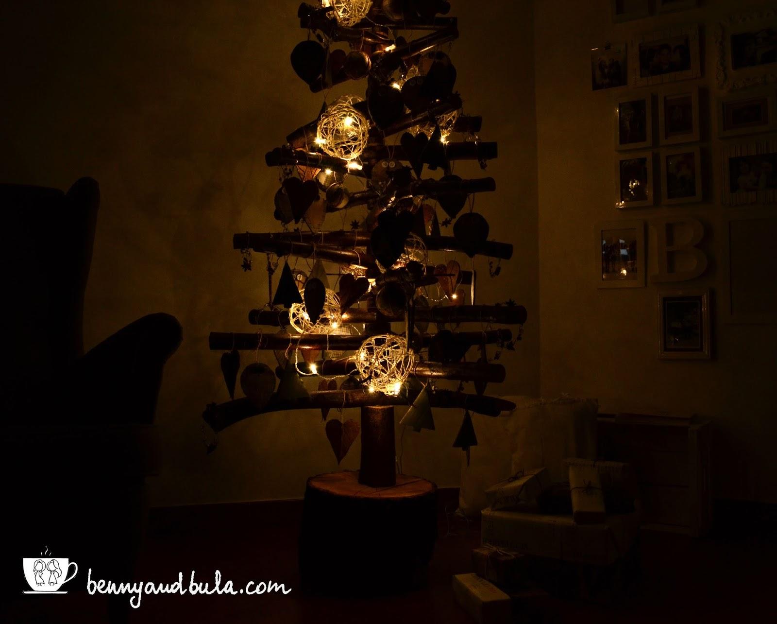 Albero di Natale, luci di sera/DIY Christmas Tree by night