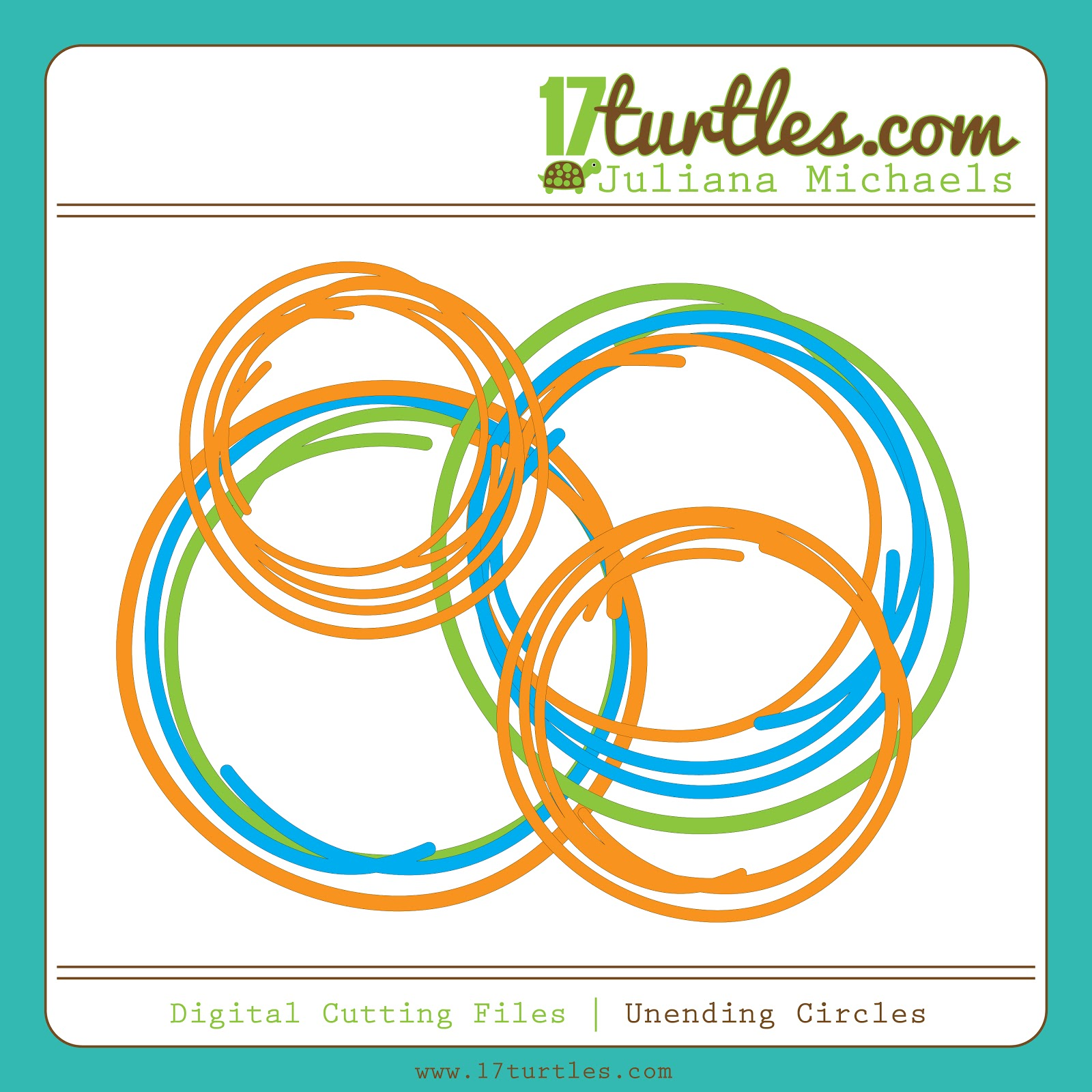 Unending Circles Free Digital Cutting File by Juliana Michaels #digitalcutfile #cutfile #svgfile #silhouette