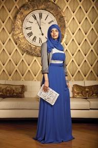 Gambar cara memakai jilbab syar'i