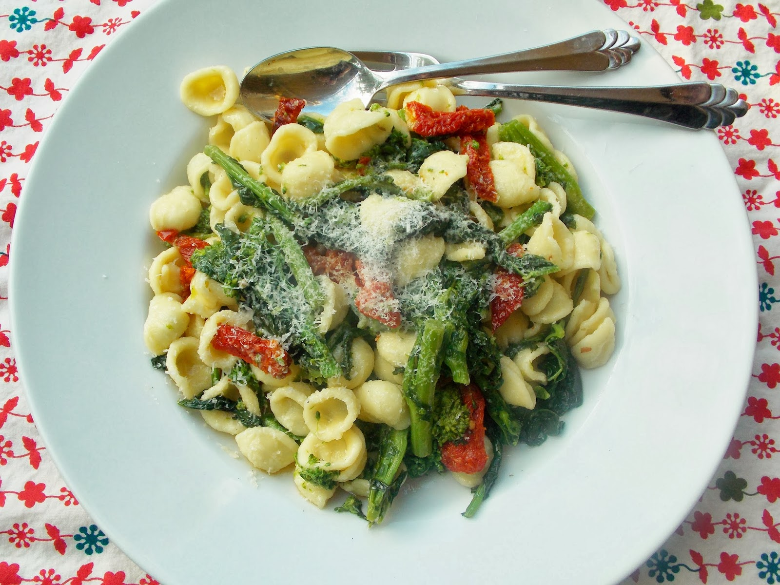 Food and Thrift: Orecchiette with Broccoli Rabe and Sun ...