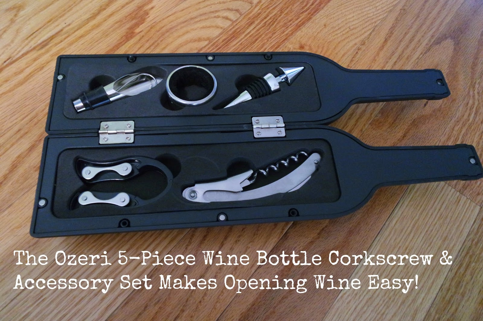Ozeri 5-Piece Wine Bottle Corkscrew & Accessory Set