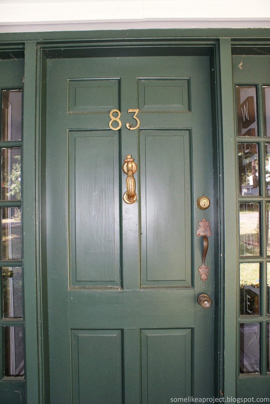 When We Bought The House, The House Numbers Were Mounted On The Front Door.