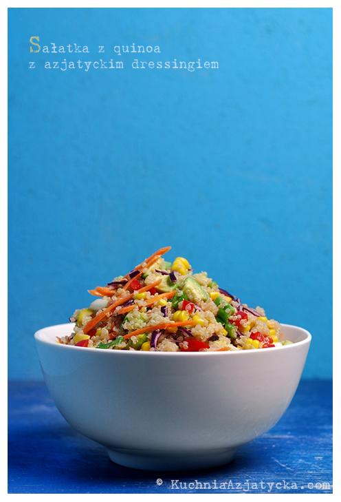 Sałatka z quinoa z azjatyckim dressingiem © KuchniaAzjatycka.com