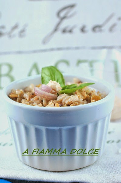 riso ai fagiolini con pesto d'olive nere