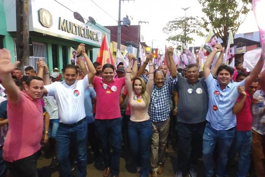 PINHEIRO ABRAÇA A CANDIDATURA DA Drª THAIZA, MAIS DE 10 MIL PESSOAS NAS RUAS DE PINHEIRO