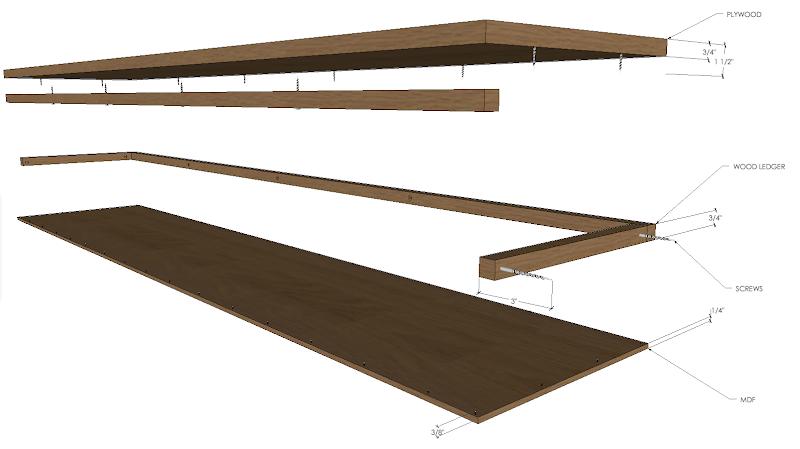 Wood Floating Shelf Hidden Brackets