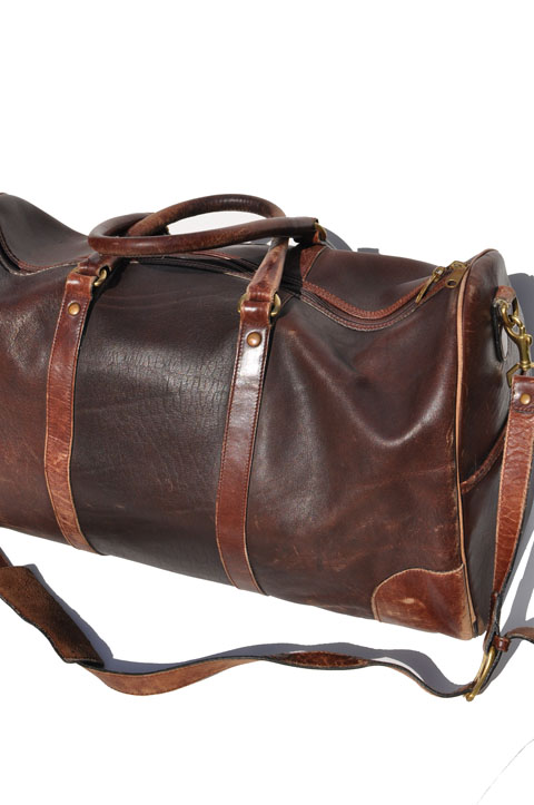 Goodbye Heart Vintage Vintage Leather Duffel Bag Tote