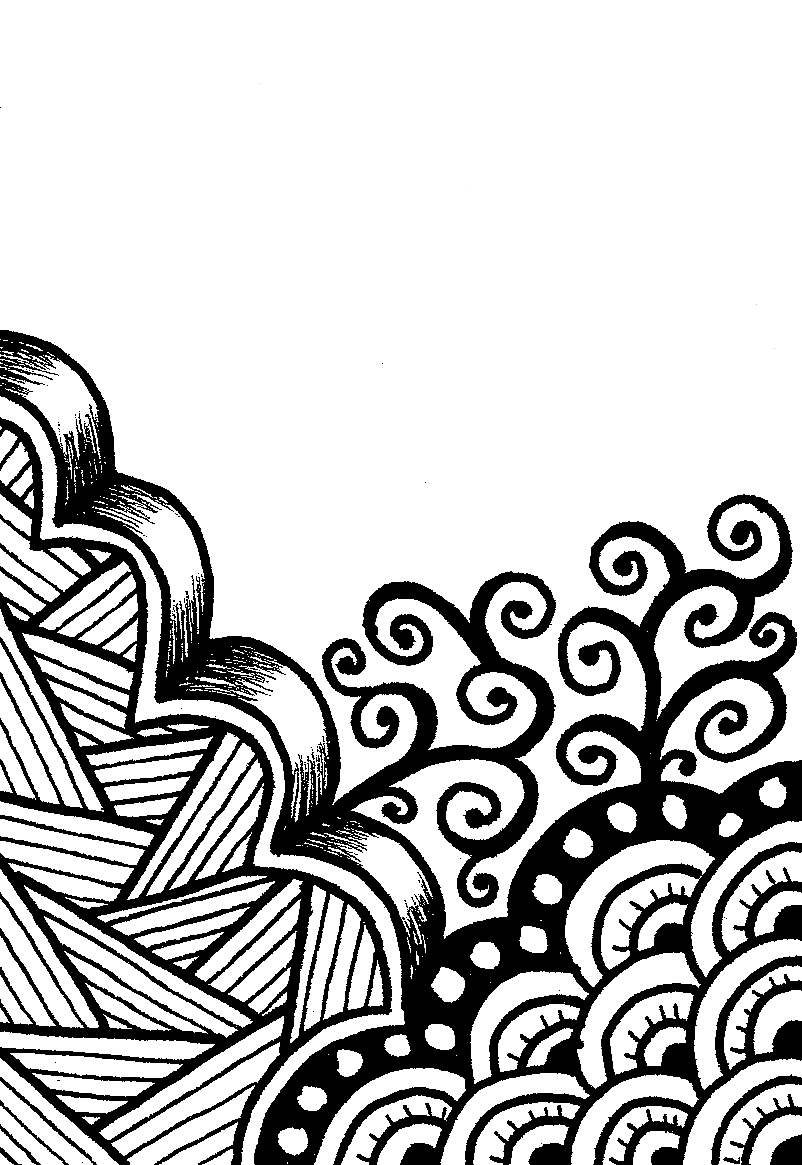 Creative crafting how to zen doodle for Drawing design ideas