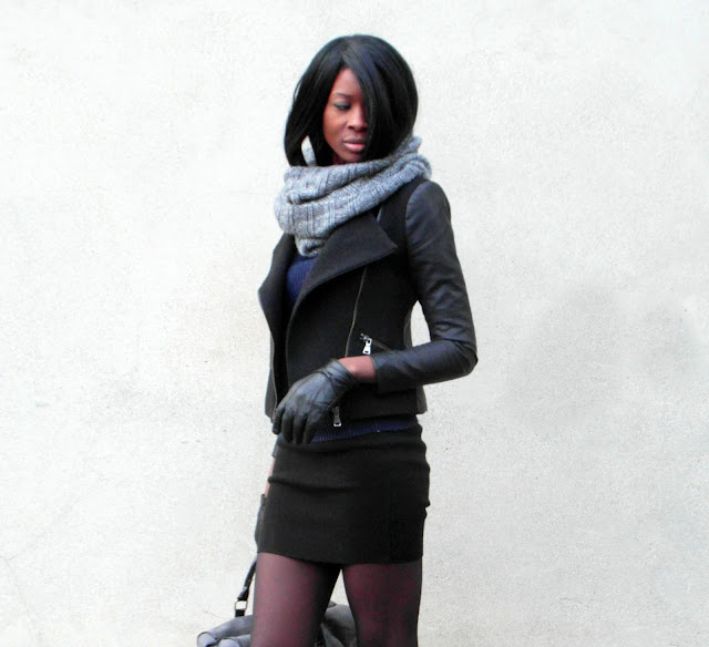 Bottes Motardes Et Jupe Tube Dats How I Rock It Styles By Assitan Blog Mode French Style