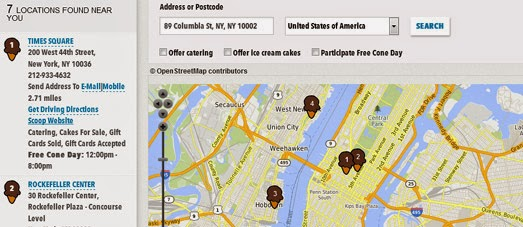 Maps Mania: Ben & Jerry's Free Ice Cream Map on