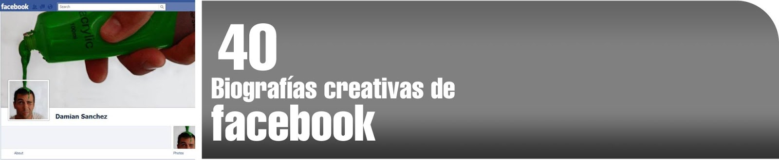 Biografías creativas de facebook para tu inspiración