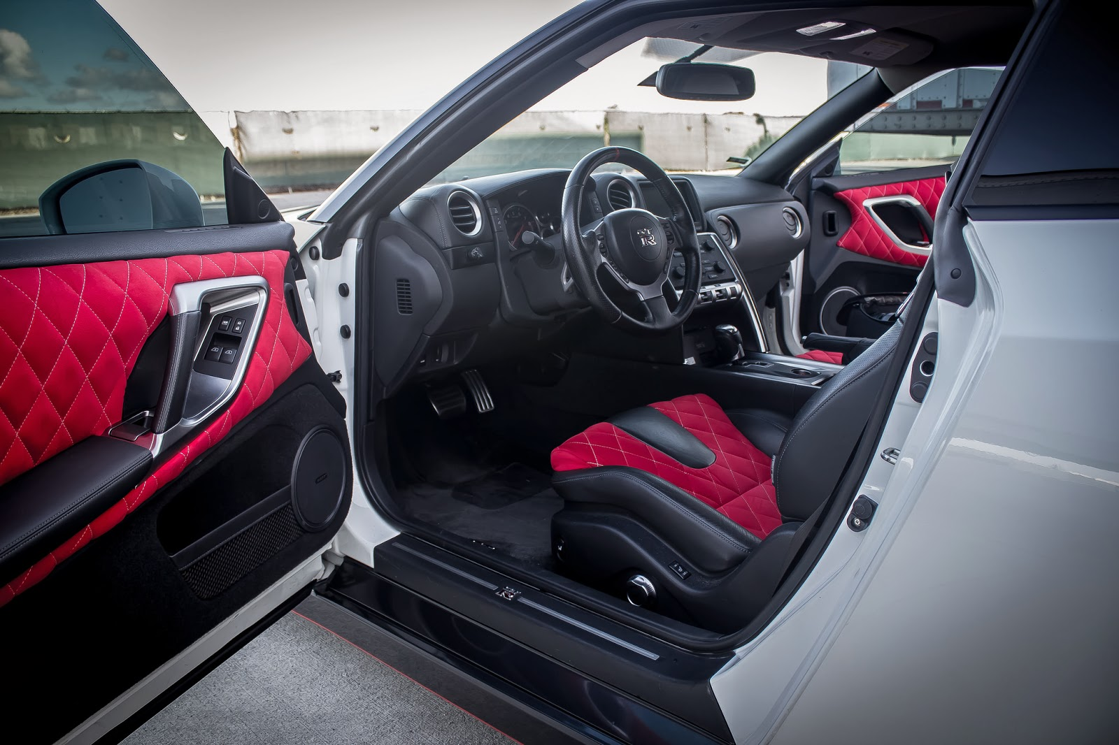 Custom Red Interior on 2010 Nissan GTR