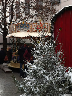 carrousel on the christmas market