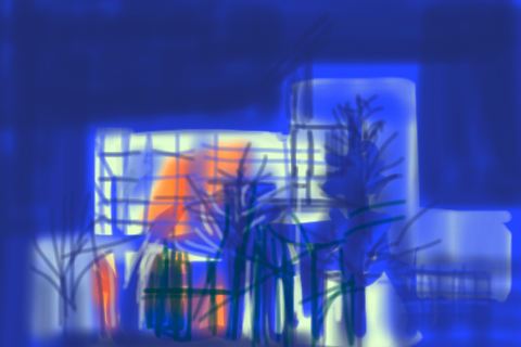 Shiho Nakaza iPhone brushes sketch Broad Stage Santa Monica night