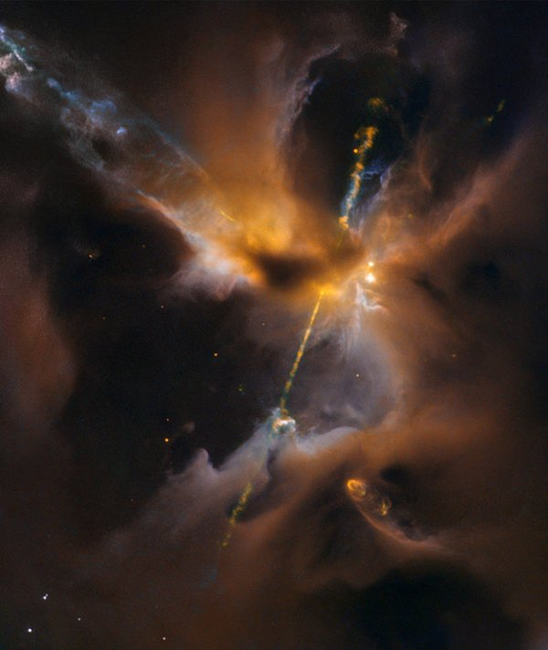 El Hubble capta el nacimiento de una estrella