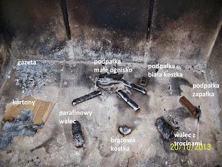 Podpałki do grilla są dobre do rozpalania kominka.