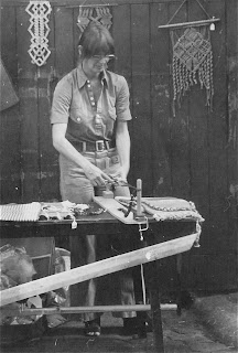 Macrame crafts stall