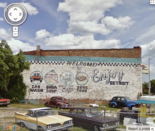 Detroit video daily enjoy car wash cafe on east jefferson for Enjoy detroit mural
