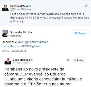 Malafaia, Twitter, Eduardo Cunha, Polêmica
