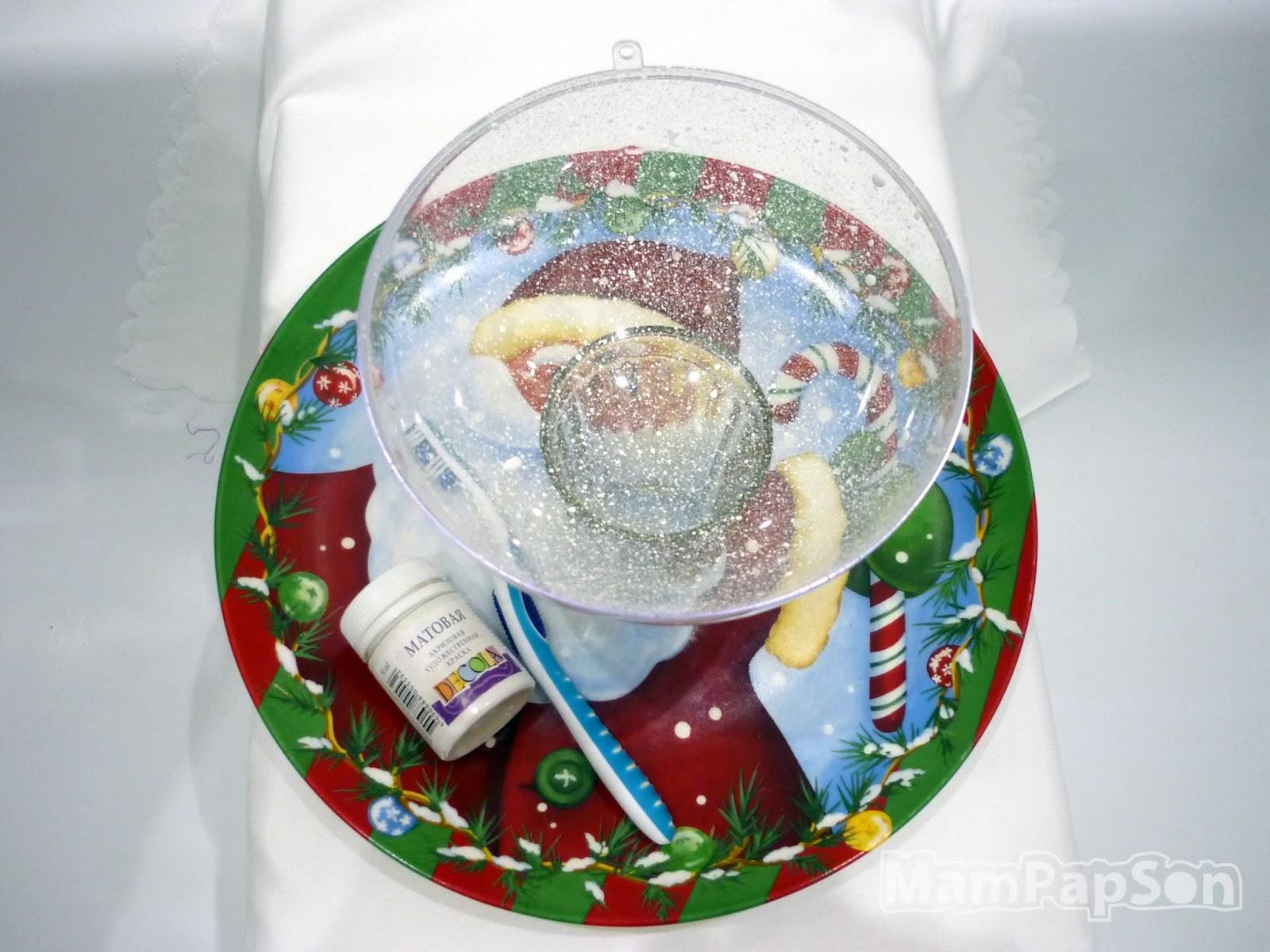 Как сделать новогодний шар с фотографией внутри фото 543