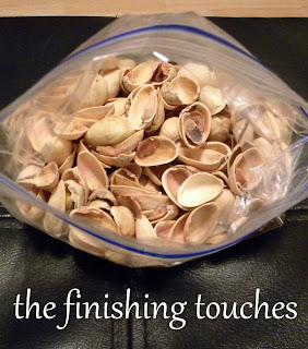 wreath, yarn, yarn wrapped wreath, pistachio shell flowers