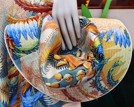 """Hermès """"Mythique Phoenix"""" print hat."""