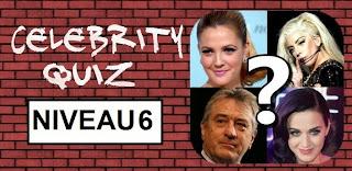Celebrity Quiz reponse niveau 6