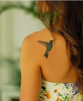 ♥  ♫ ♥ back tattoo for fashion girls.bird tattoo  ♥  ♫ ♥