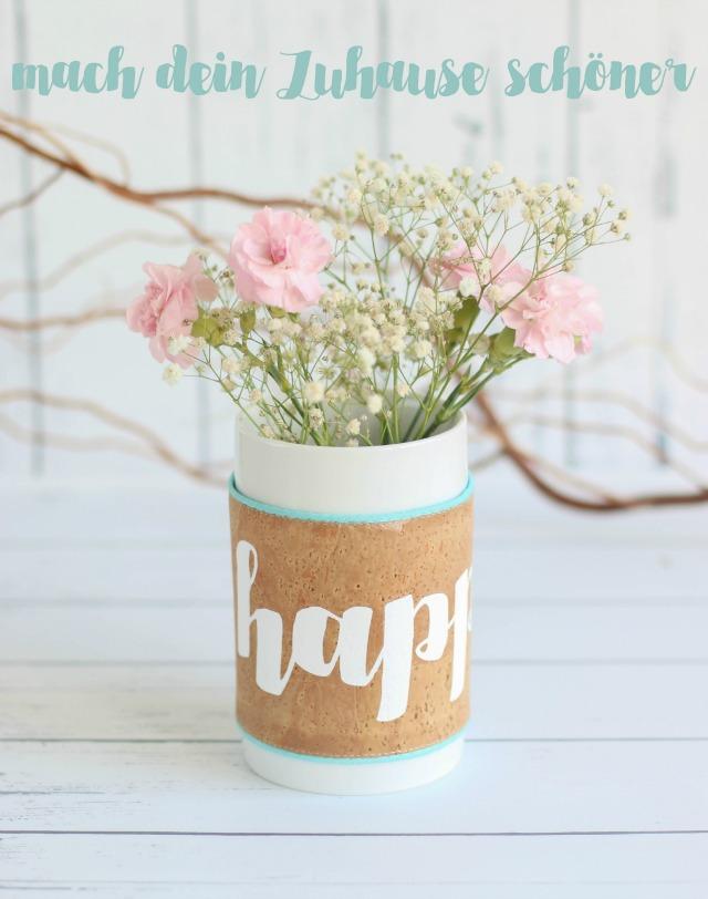 Vase umhüllt mit Kork - von Makerist - DIY von Frühstück bei Emma