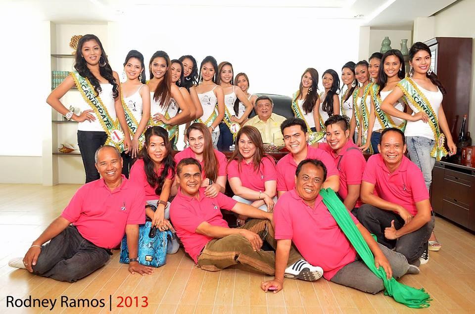 Miss Bogo Tourism 2013 Candidates with Mayor Junie Martinez