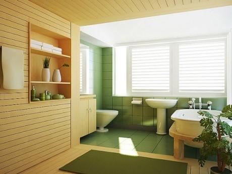 DECO CHAMBRE INTERIEUR: Salle de bain jaune et verte