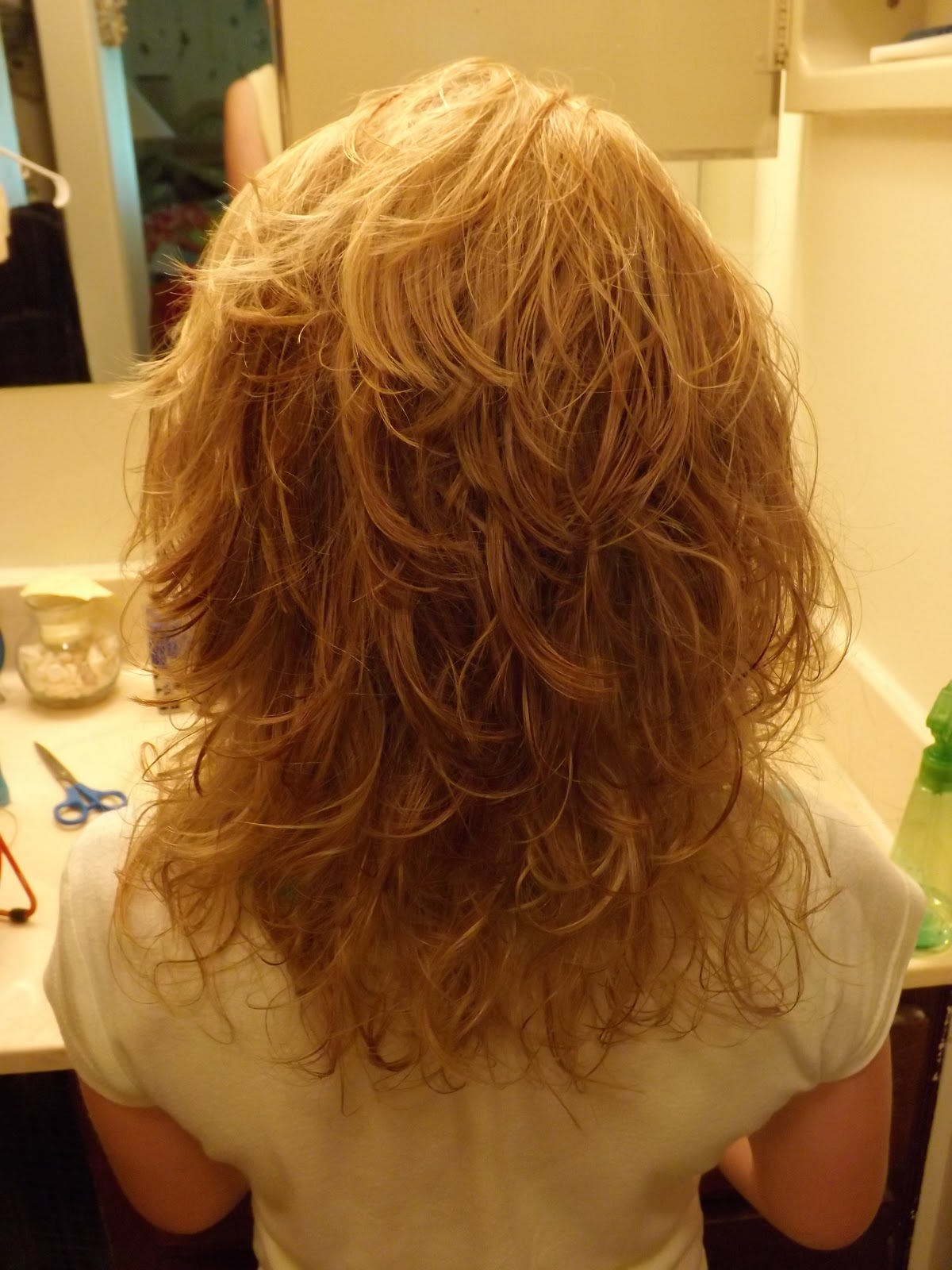 in her hair and dried it with my diffuser. Her hair looked beautiful