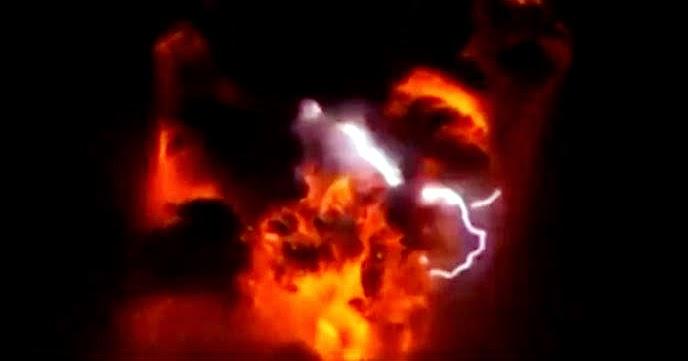 erupcion calbuco de noche