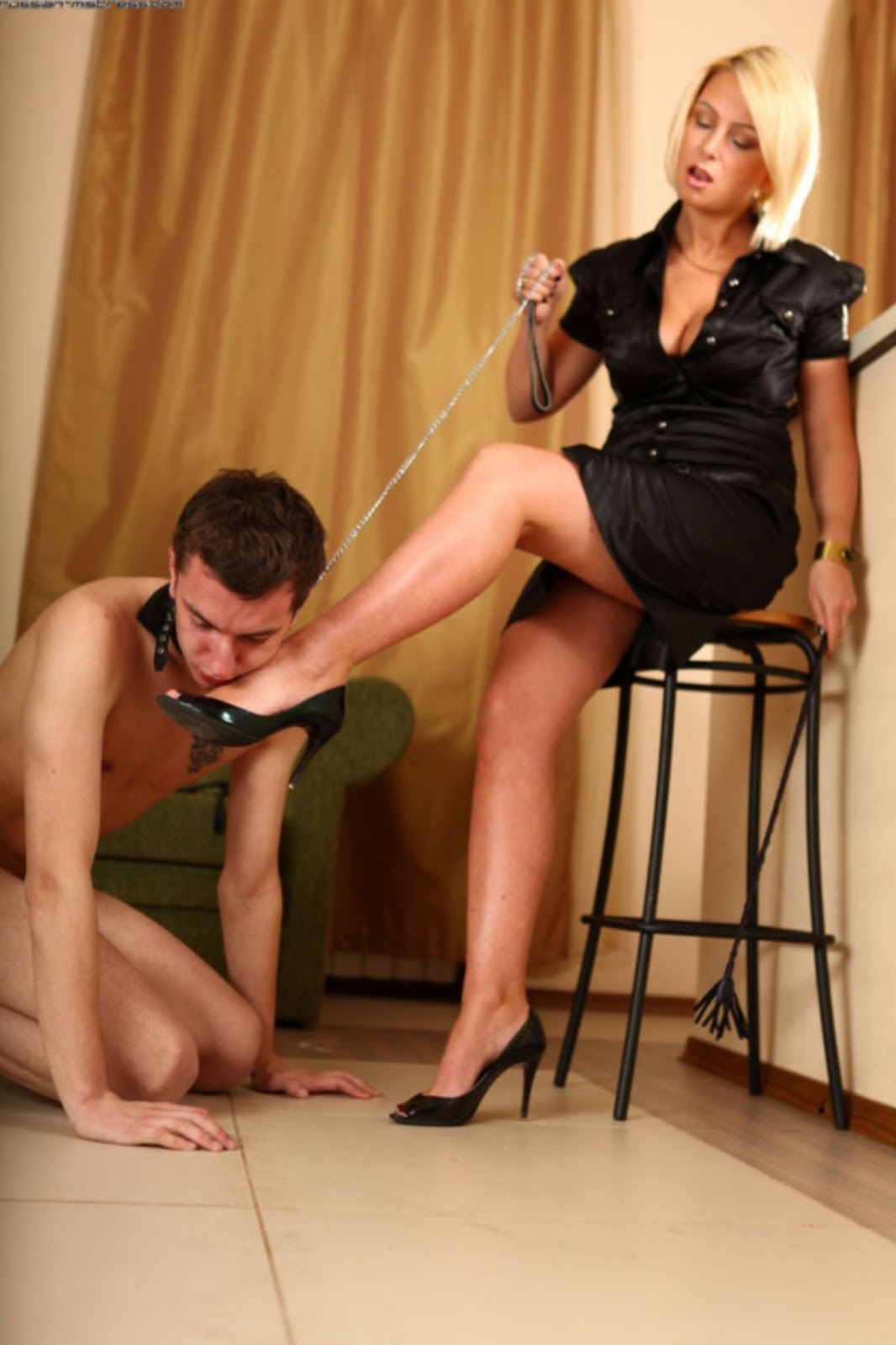 Teen gets bound and punished on leash