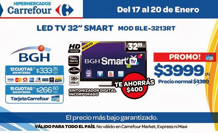 tecno promos argentina promo carrefour smart tv bgh. Black Bedroom Furniture Sets. Home Design Ideas