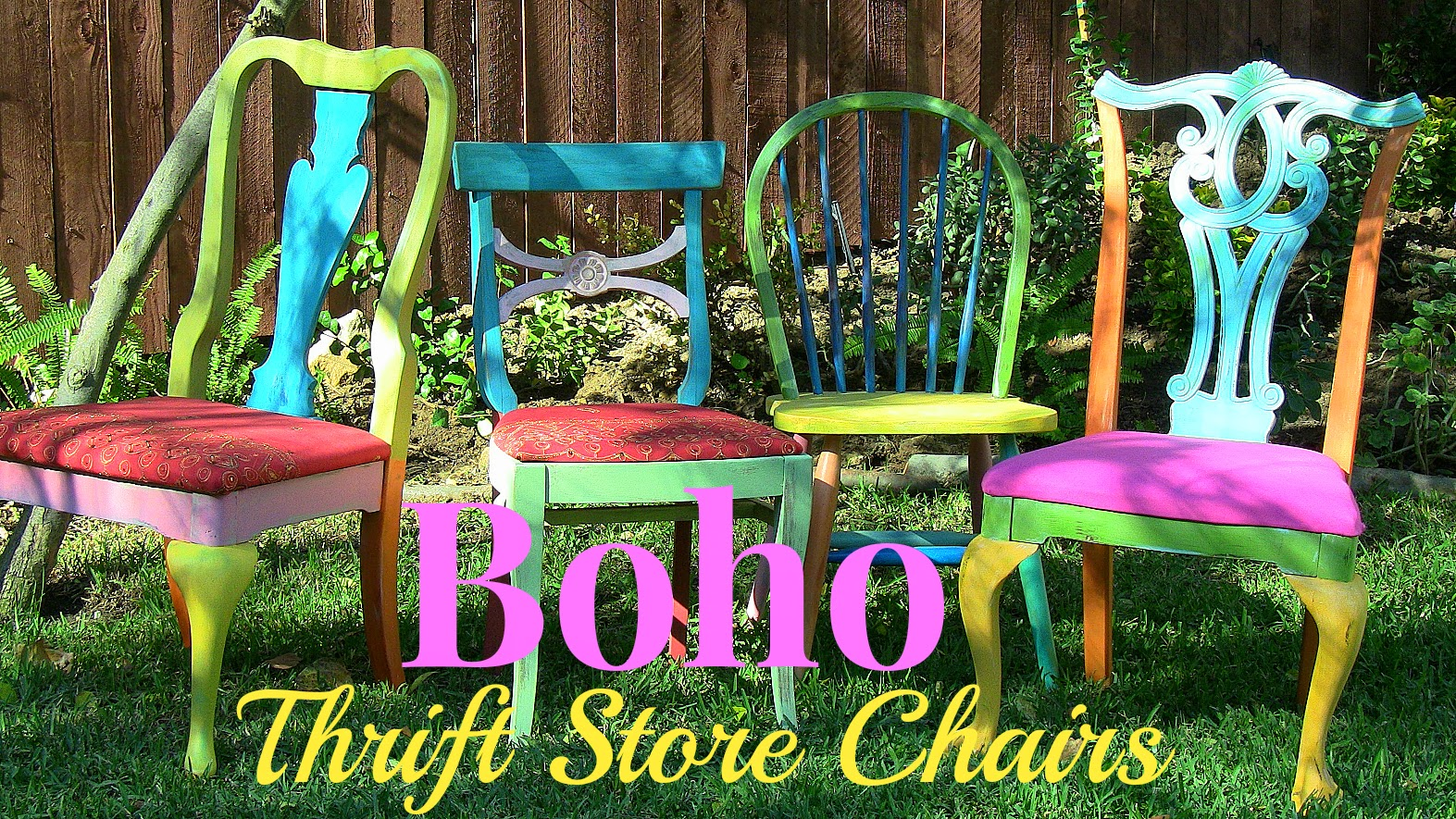 5 Boho Thrift Chairs Diy