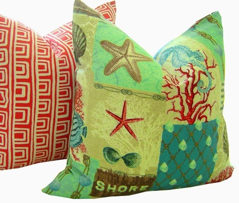 handmade coastal pillow covers