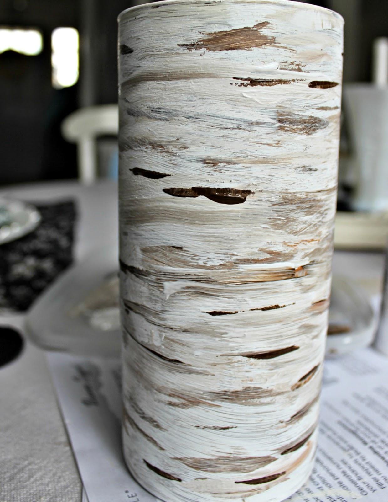 You can make a birch bark vase days of chalk and chocolate httptinyurlbirchvase birch bark vase reviewsmspy
