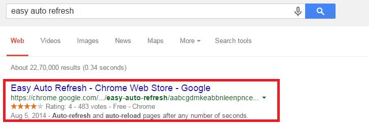 How to Auto Refresh in Chrome / Mozilla Firexfox (Picture