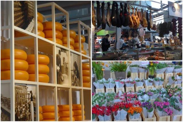 Puestos dentro del Mercado Markthal en Rotterdam