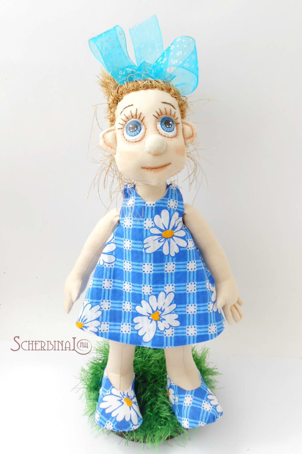 двусторонний сарафан с запахом для куклы, мастер класс, выкройка