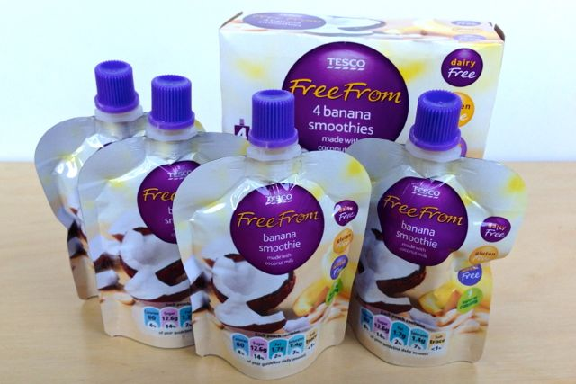 Tesco 'Free From' Banana Smoothies