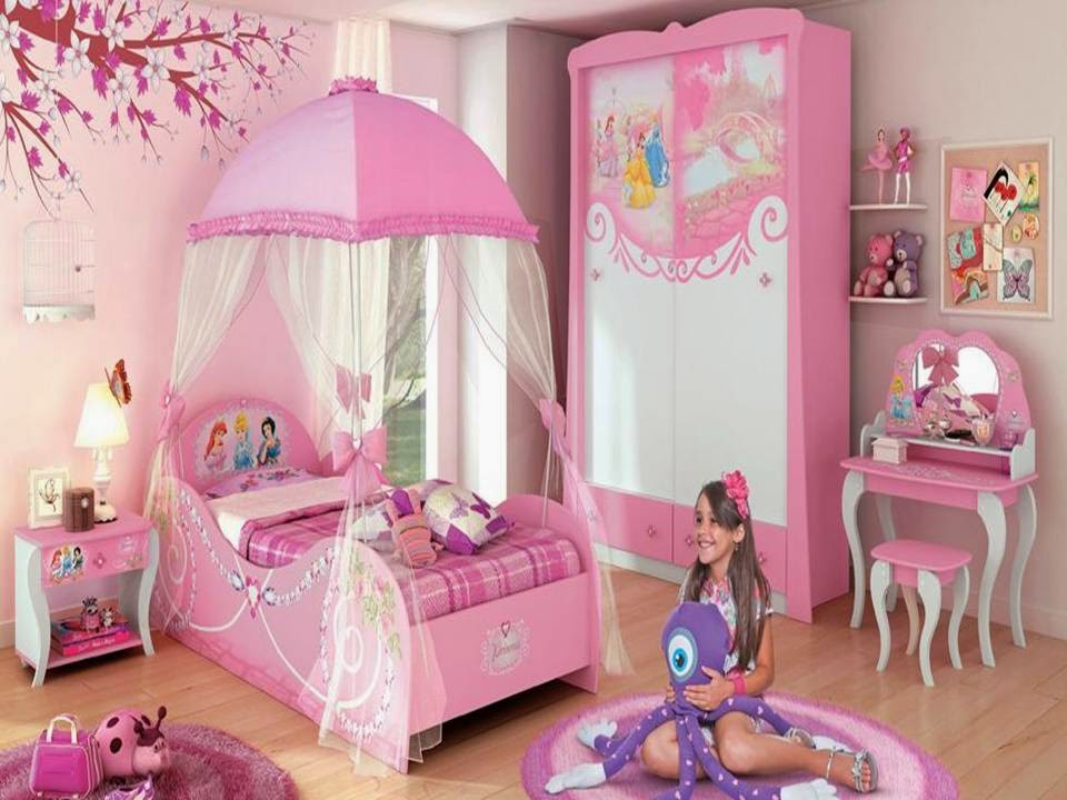 Home Decor Modern Girls Attic Bedroom Picture