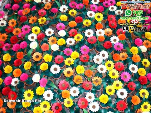 Souvenir Bunga Pot Lontar Jogja