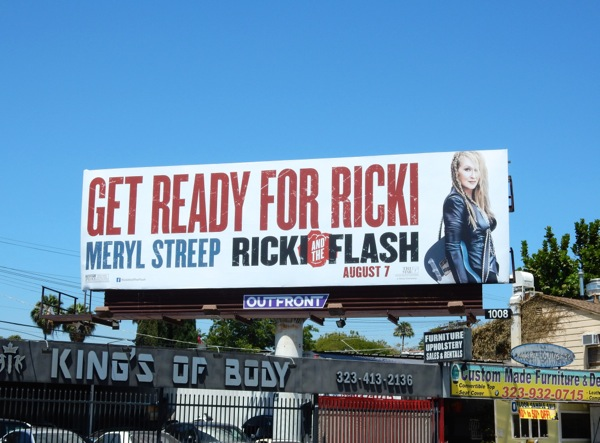 Ricki and the Flash movie billboard