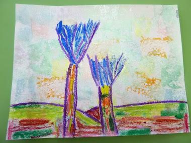 Portrait d'arbres comme Vlaminck en GS