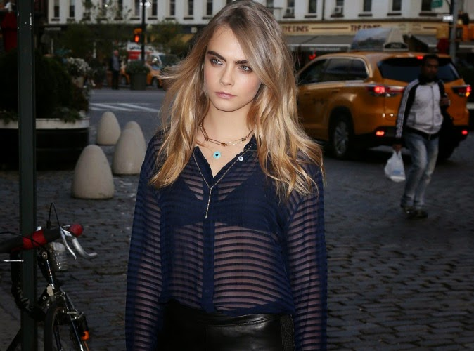 With transparent blouse, Cara Delevingne gets annoyed with harassment
