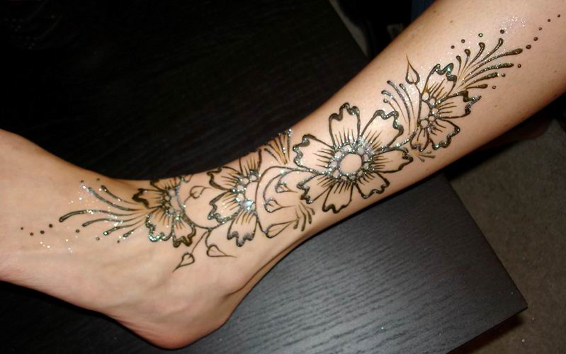 Leg Mehndi Designs Easy Only : Latest legs mehndi designs desings