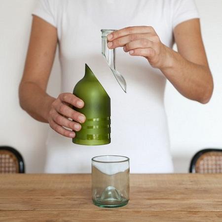 Reciclando botellas de vidrio producci n - Como pegar corchos de botellas ...